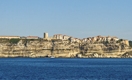 View to the Bonifacio city, Corsica.  photo