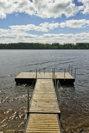 Private pier at the river. photo