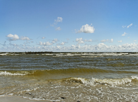breakwaters: View to the Baltic sea.