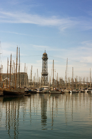 View to the port of Barcelona. photo