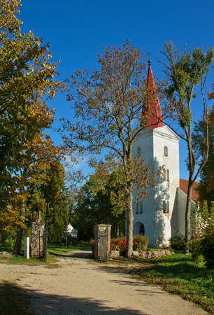 lutheran: Lutheran church in Kandava, Latvia. Stock Photo