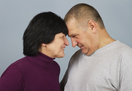 told: Dialog between man and woman. Stock Photo