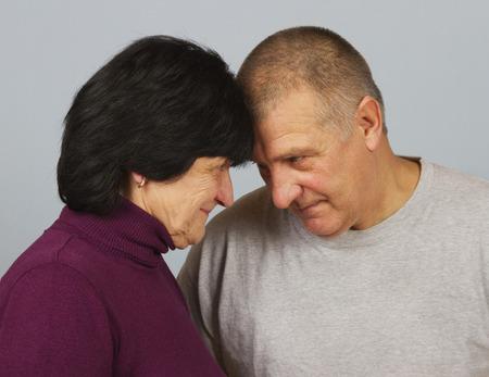 dialog: Dialog between man and woman. Stock Photo
