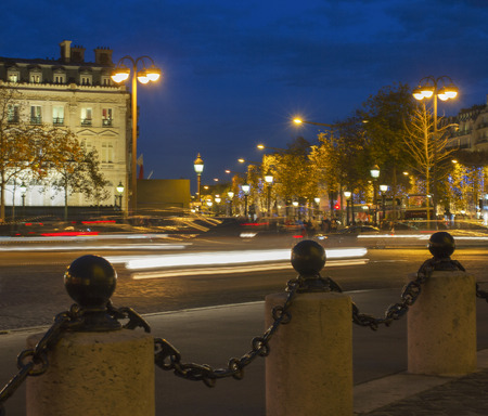 champs elysees quarter: View to the street from point of Triumphe arc in Paris.