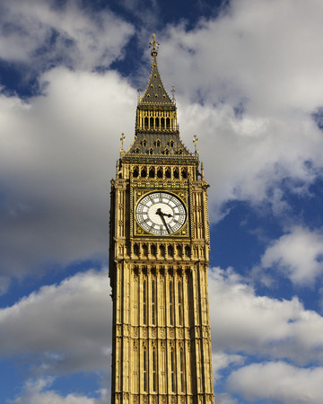 north end: Big Ben is the nickname for the Great Bell of the clock at the north end of the Palace of Westminster in London UK.