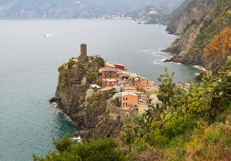 View to the Vernazza from tourist path. photo