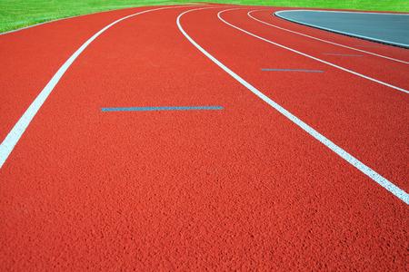 athletics: Running tracks on the athletics stadium. Stock Photo