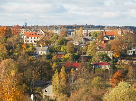 smal: Smal city in an autumn.