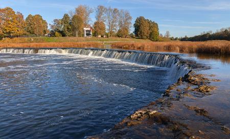 rumba: Waterfall on Ventas rumba, Latvia.