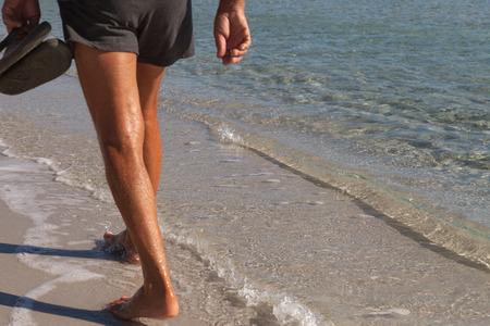 cinta: Man on the beach of La Cinta.