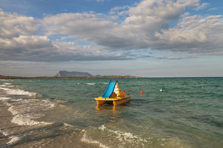 cinta: On the beach of La Cinta, Italy. Stock Photo