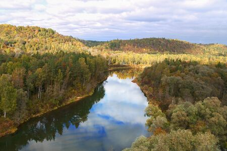 sigulda: View to the river in Sigulda from cable way.