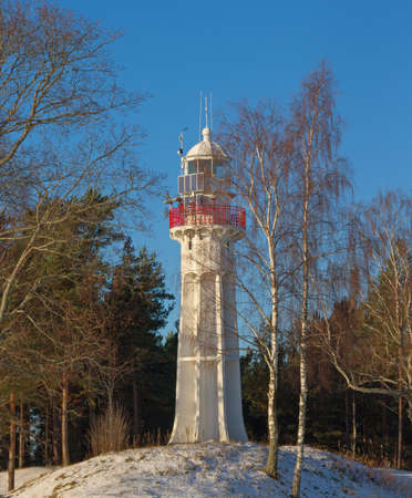 coastline: Lighthouse on the Baltic sea coastline.