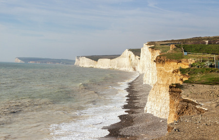 south east: Seven sisters white cliffs south east england.south east england. Stock Photo