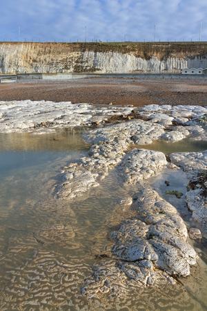 english channel: Limestone coastline at the English channel.