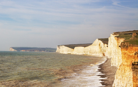 south east: Seven sisters white cliffs south east england.