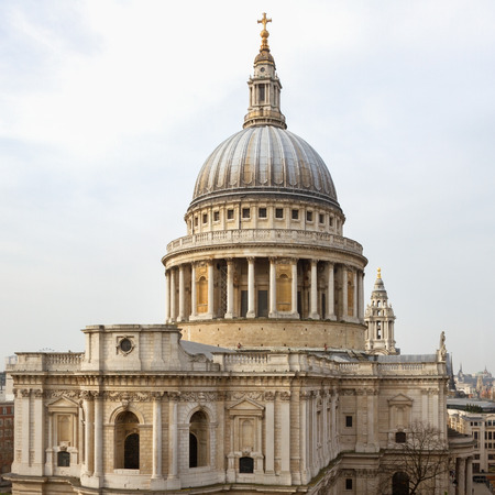 typically english: St Pauls Cathedral in London, UK.