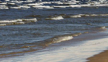 big waves: Stormy Baltic sea with big waves.