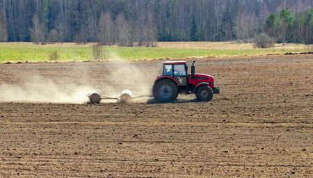 sowing: Field preparation for sowing.