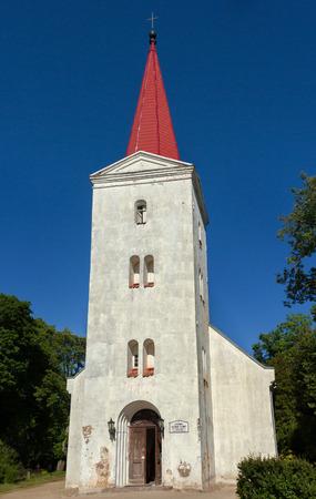 fasade: Fasade of lutheran church i n Kandava, Latvia.