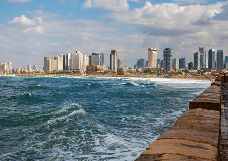 View to the Mediterranean sea in Tel-Aviv.