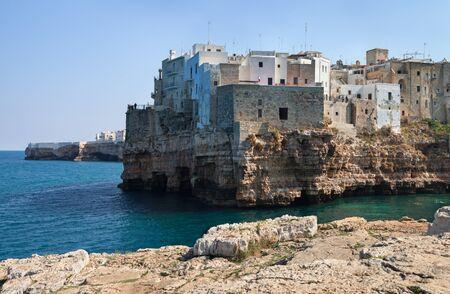 Cliff in the Mediterranean sea at Polignano a Mare.