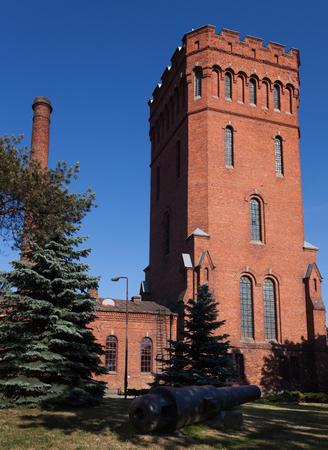 Old water tower in Liepaja, Latvia. Editorial