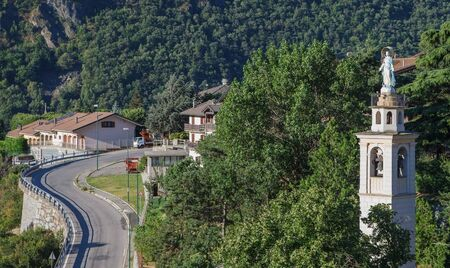 Chatillon in morning, Aosta valey, Italy.