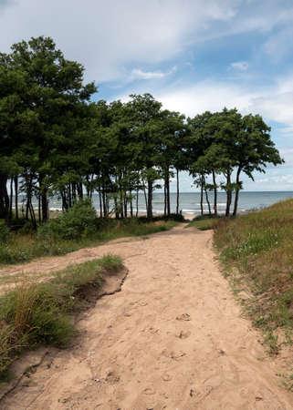 View to Baltic sea coast.
