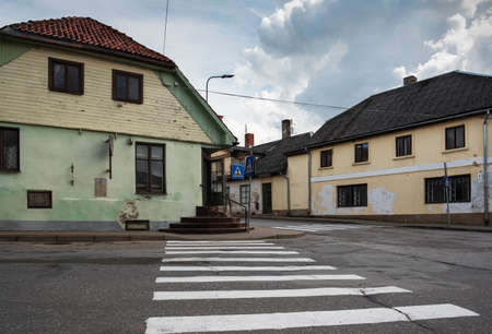 View to a street of the small city Sabile. Reklamní fotografie