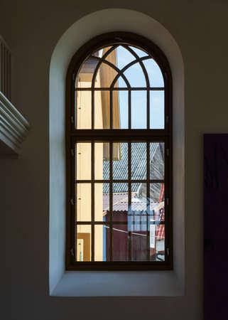 View to window from inside. Reklamní fotografie