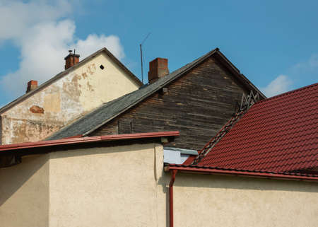 Natural roofs in small city.