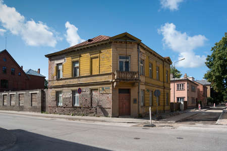 View to crossroad with old buildings in a small city. Reklamní fotografie