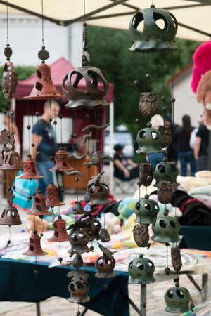 Homemade things for sell on street market. Reklamní fotografie