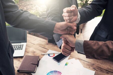 Business People Teamwork Relation Concept Stock Photo