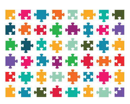 Vector illustration of colorful puzzle Stock Vector - 23268978