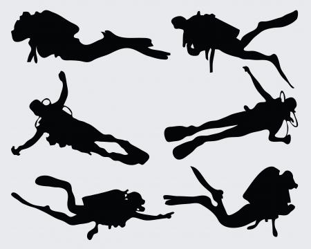 Set van duiker silhouetten, vector
