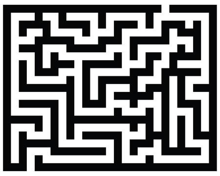 Black and white maze, vector illustration