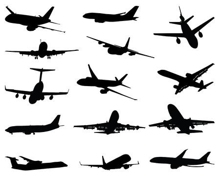 別の飛行機のシルエット、ベクトル イラスト集  イラスト・ベクター素材