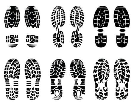 Verschillende prints van de schoen, vector Illustratie