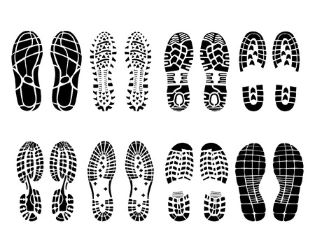 Various prints of shoes, vector Illustration Vector
