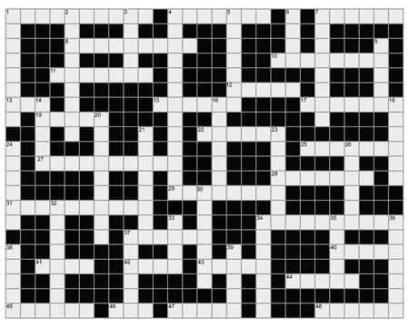 An empty crossword puzzle illustration Illustration