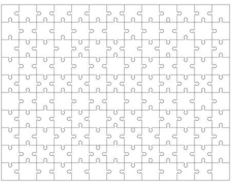 illustration of white puzzle 2 Illustration