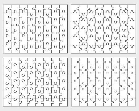 Set of puzzle Illustration