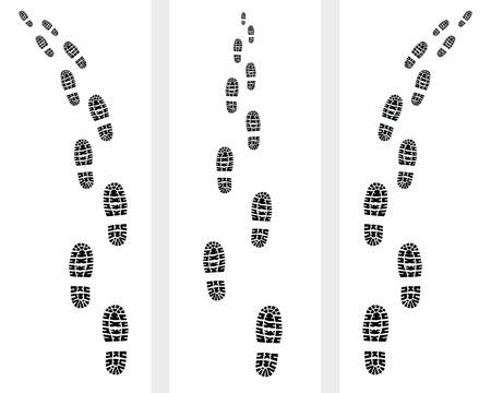 신발의 인쇄의 흔적, 그림