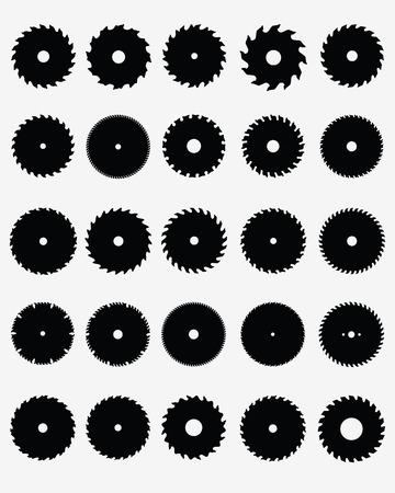 Reeks verschillende cirkelzaagbladen