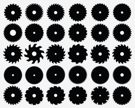 Set di diverse lame circolari, vettore Archivio Fotografico - 33141209