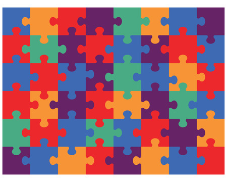 Illustration of colorful shiny puzzle, vector