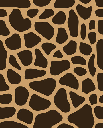 Brown pattern of leather of giraffe vector