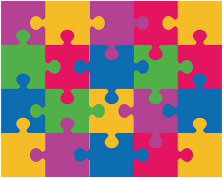 Vector illustration of colorful puzzle Vector